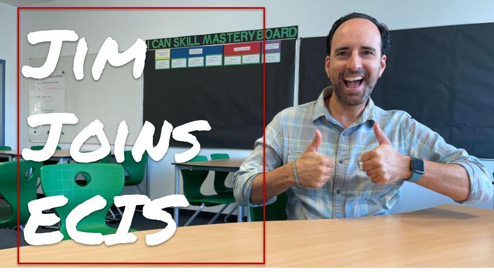 Jim Joins ECIS